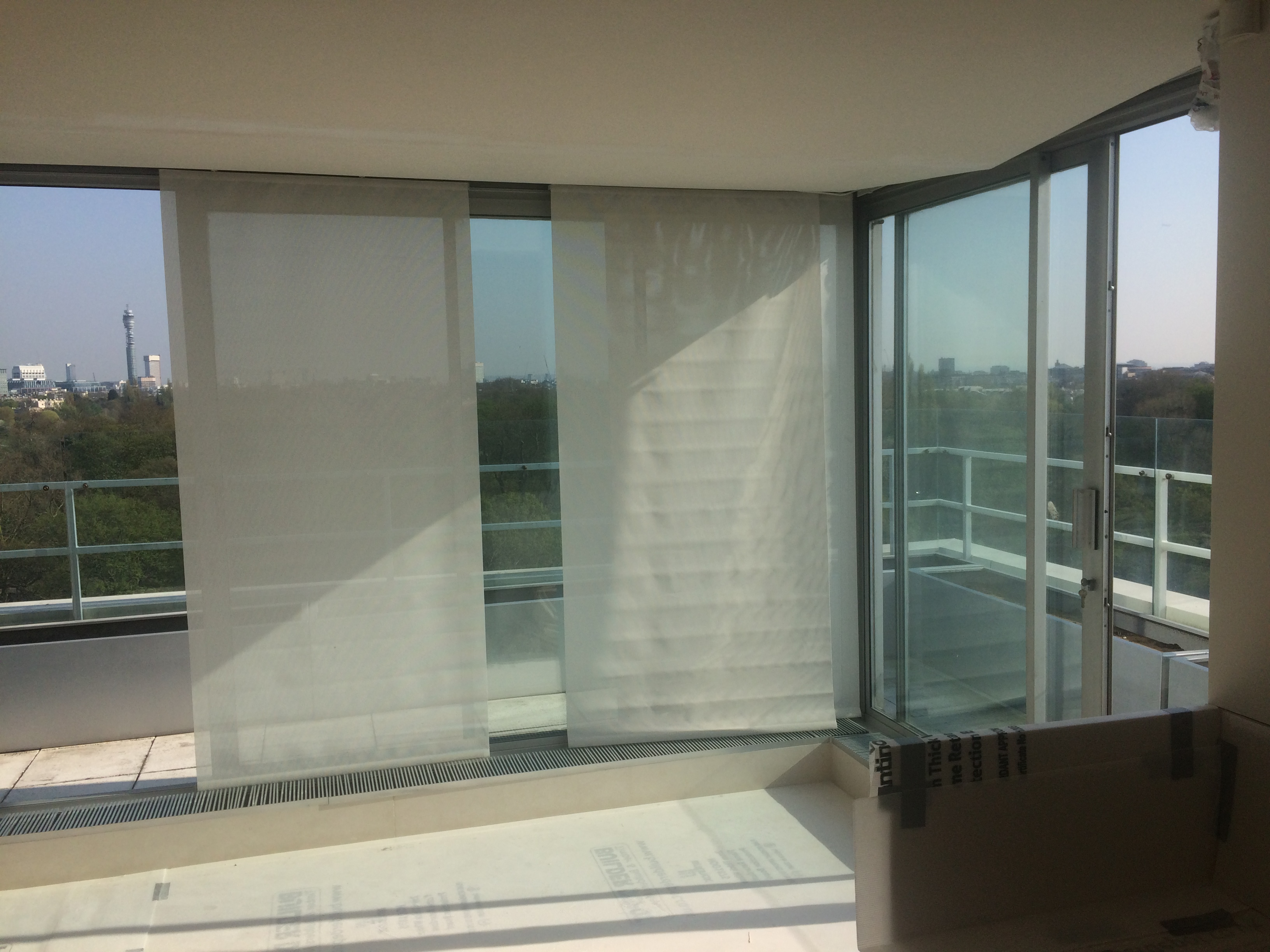 installing clear uv to a penthouse in london tintfit window films. Black Bedroom Furniture Sets. Home Design Ideas